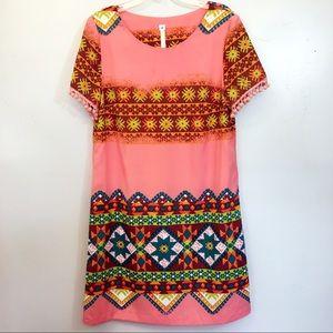 Anthropologie Uncle Frank Aztec Print Dress M